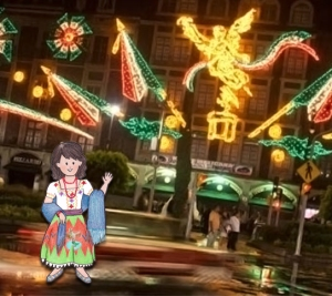 Valentina promenerar på Zocalo. (Foto: Excelsior)