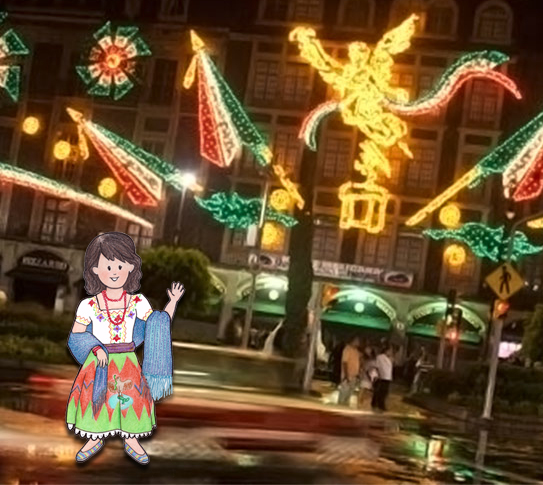 Valentina paseando por el Zócalo. (Foto: Excelsior)